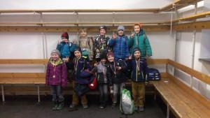 Ein Teil der Teilnehmer der diesjährigen Eislauf AG